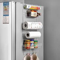 可折叠冰箱侧壁调味品收纳架多功能厨房置物架壁挂式挂架用具