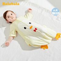 巴拉巴拉婴儿睡袋宝宝防踢被新生儿宝宝被子纯棉纱布卡通夏