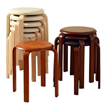 家逸 时尚简约创意圆凳 休闲椅坐凳实木凳子 餐椅 弯曲木凳 单把简约结实耐用,本店质保三年,售后无忧!