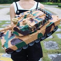 遥控坦克车可发射金属儿童对战模型男孩生日礼物玩具