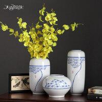 时尚现代简约花瓶摆件景德镇中式陶瓷器花瓶 现代客厅家居饰品摆件插花装饰摆设工艺品