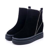 雪地靴2018新款冬季棉靴内增高保暖加绒防滑百搭短靴厚底棉鞋女鞋