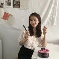 春夏新品韩国INS博主热推甜美系立体玫瑰花朵短袖上衣气质