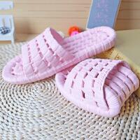 拖鞋 男女士一字透气防滑拖鞋2020年夏季新款韩版时尚男女式镂空软底男女家居鞋