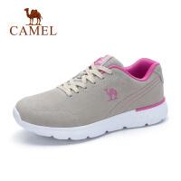骆驼新款运动鞋女韩版休闲跑步鞋平底真皮原宿百搭潮鞋子