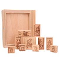 三国华容道儿童通关解题益智力玩具实木制古典解锁