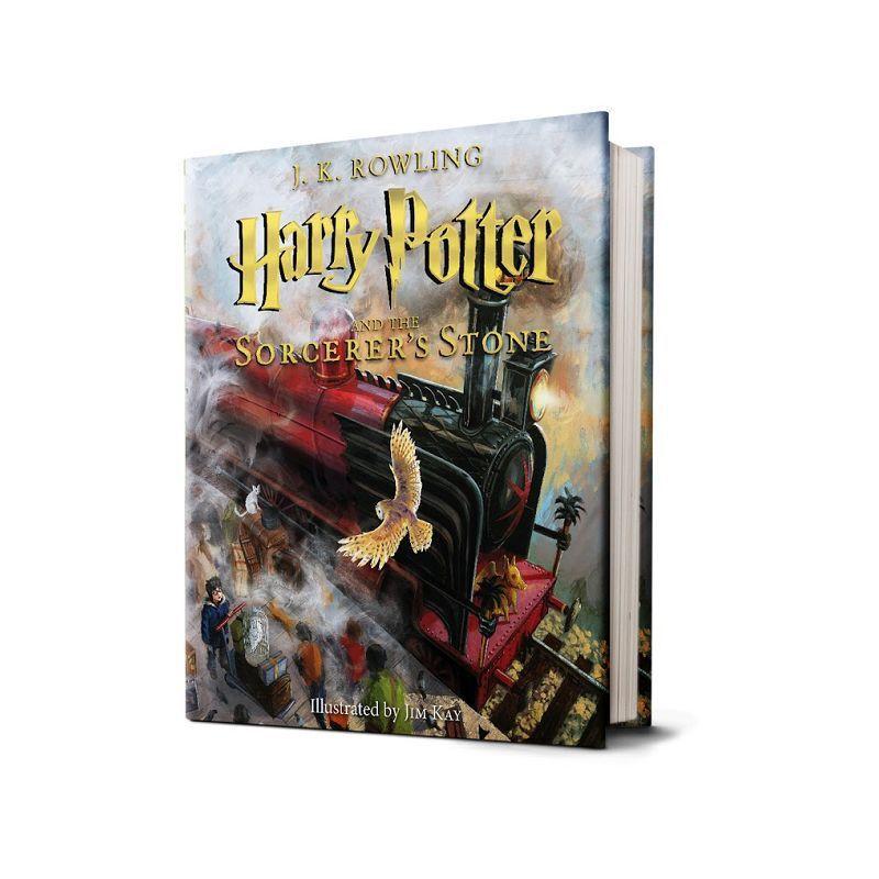 【现货】英文原版 哈利波特与魔法石 Harry Potter and the Sorcerer's Stone: The Illustrated Edition彩绘插图精装收藏版 国图进口,原版保证!