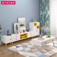 欧式电视柜茶几小户型客厅家具套装组合实木腿地柜储物柜子 +++大储物柜组合 组装