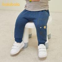 【五一出游季 4件4折:39.6】巴拉巴拉宝宝婴儿男童秋冬长裤女童运动裤休闲裤加绒保暖