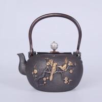 红兔子 仿日本老铁壶南部生铁壶茶壶铁壶煮水壶茶炉铸铁电茶炉茶具光波电磁炉