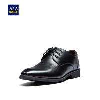 HLA/海澜之家净色系带款光泽皮鞋2019春季新品商务正装皮鞋男