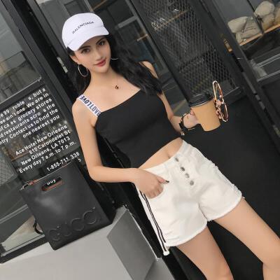 2018夏季新款牛仔短裤时尚休闲潮流牛仔裤女修身显瘦裤子ZL108