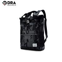 DRACONITE潮流时尚街头风黑色迷彩混搭两用手提双肩包男书包