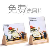 欧式木质相框摆台创意6 7寸七寸亚克力现代冲印洗照片加 U型相框-配高清亚克力面板