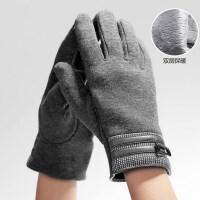 韩版男士保暖手套男冬骑车 分指PU分指触屏棉手套