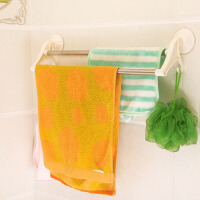 吸盘双杆毛巾架多功能浴室毛巾架 卫生间不锈钢置物架