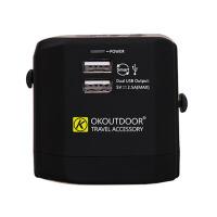 多国通用转换插头插座USB充电源转换器英标欧标美标澳洲出国旅游