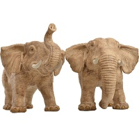 大象摆件风水象一对陶瓷手工艺品客厅电视柜玄关装饰吉祥礼品