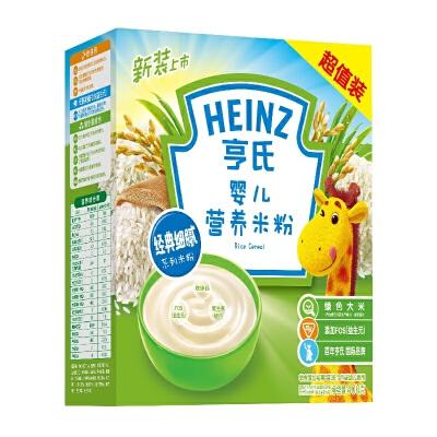 【当当自营】亨氏 Heinz婴儿营养米粉超值装1段(辅食添加初期-36个月)400g/盒 宝宝辅食(团购电话:010-57992568)【当当自营】宝宝辅食 米粉米饼 含钙铁锌等