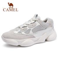 camel骆驼男鞋 秋季新品复古厚底情侣款运动鞋潮轻便透气跑步鞋