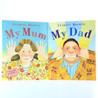 【中商原版】My Mum My Dad(Anthony Browne)我的爸爸妈妈 安东尼布朗