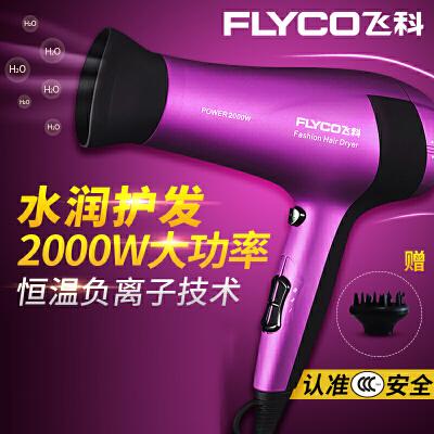 飞科(FLYCO)电吹风FH6618 吹风机2000W大功率冷热风静音电吹风负离子技术吹风筒 魅惑紫 盛夏出行 满89减10元