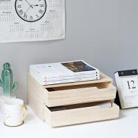 桌面抽屉收纳盒办公室A4书本文件多功能抽屉置物架省空间实木木余 2.16左右发货