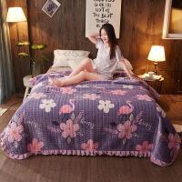君别冬季床单珊瑚绒毯学生宿舍水晶绒毛毯双面懒人毯夹棉毯子