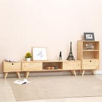 简约电视柜组合简易日式现代卧室北欧实木小户型电视机柜客厅地柜 整装
