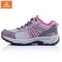 美国第一户外新款登山徒步鞋女款低帮户外防滑越野跑鞋