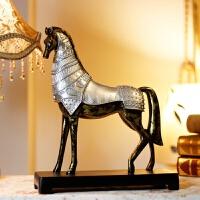 复古欧式马摆件创意家居办公室风水工艺品客厅酒柜装饰品