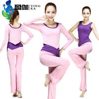 瑜伽服套装女秋冬莫代尔长袖显瘦健身服跑步运动服瑜珈服三件套