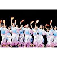 第九届小荷风采月愿舞蹈服儿童古典舞蹈演出服装儿童秧歌服元旦新 粉红色