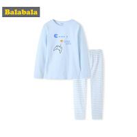 巴拉巴拉男童秋衣秋裤套装棉薄款儿童内衣保暖长袖卡通透气大童潮