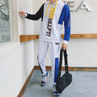 男士卫衣连帽韩版潮流秋季帅气外套一套男衣服两件休闲运动套装DJ-DS239套装