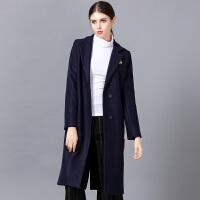 �莱欧洲站潮2016秋冬新款韩版加厚长袖H型呢子大衣女中长款毛呢外套