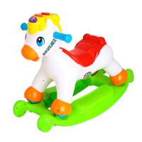 快乐摇摇马儿童音乐小木马摇摇马塑料滑行车两用玩具3-6岁