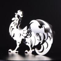 2017年 鸡年 生肖钢魔兽 不锈钢全金属摆件 工艺品 可拆卸拼装 十二生肖 鸡 礼品