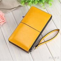 新款韩版女士钱包长款拉链手拿包大容量手机钱包糖果色潮女包包