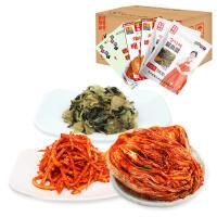 【包邮】金刚山泡菜礼盒装 辣白菜*2+桔梗*2+酱杂菜*2 一箱
