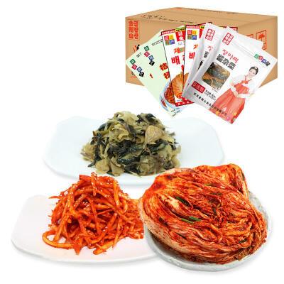 【包邮】金刚山泡菜礼盒装 辣白菜*2+桔梗*2+酱杂菜*2 一箱泡菜礼盒 韩国风味
