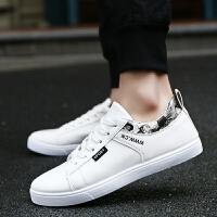 9080白色男士板鞋韩版学生鞋系带低帮男鞋新款秋季时尚休闲鞋