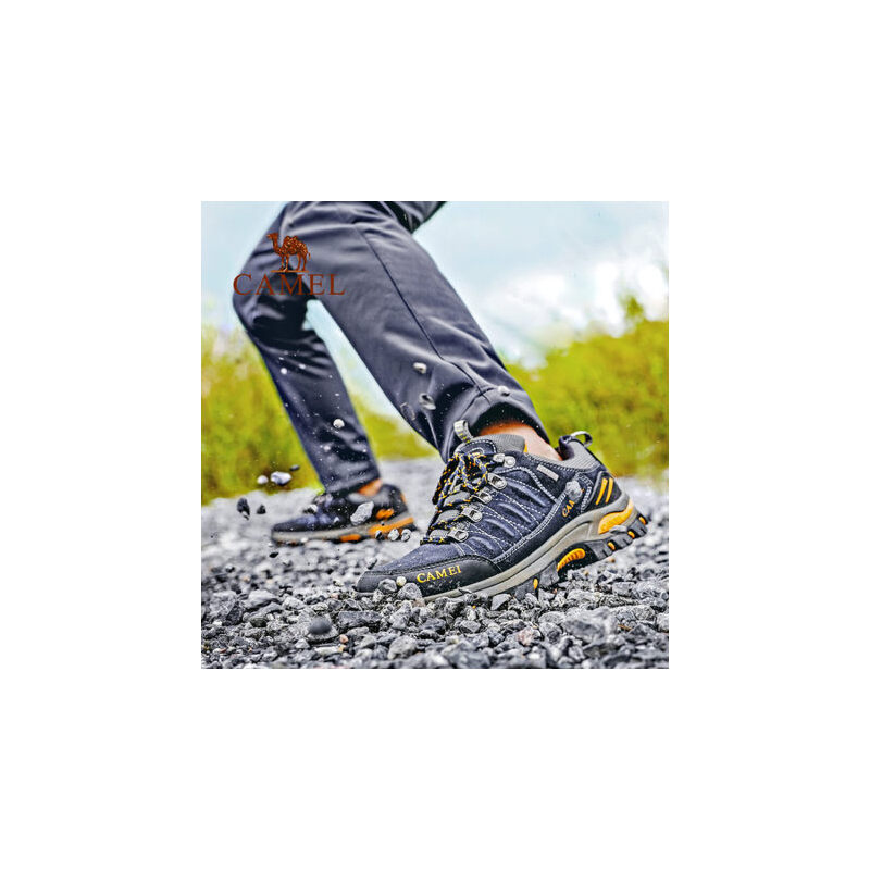 CAMEL/骆驼户外徒步鞋男女 防滑耐磨减震透气低帮系带情侣登山鞋