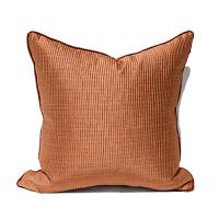 抱枕橙色简约现代美式中式欧式样板间床头腰枕沙发靠垫靠枕套