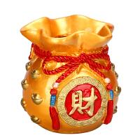 聚财金钱袋摆件存储钱罐工艺饰品创意礼品存钱罐工艺品