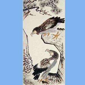 现代书画家美术教育家,原名李英杰,曾任中央美术学院教授,中国美术家协会理事李苦禅(花鸟)