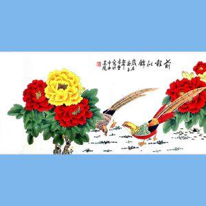 北京著名工笔画家,北京市美协会员,北京九久书画收藏文化交流中心画家凌雪(前程似锦2)