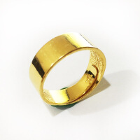 先恩尼黄金 足金戒指 男款黄金戒指 足金男士戒指 光面花纹戒指