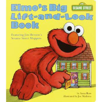 英文原版 芝麻街:阿莫的大翻翻书 Elmo's Big Lift-and-Look Book: Sesame Street