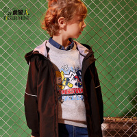【2件3折到手价:119.7元】小虎宝儿男童长款外套2019春装新款童装风衣中大童时尚宽松上衣潮